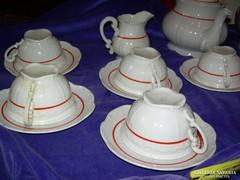 13 darabos hiányos Zsolnay teáskészlet cca 50-es évek