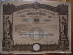 Nyeremény kötvény 100 Koronáról 1906.