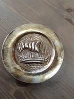 Régi Ciprusi ezüst tálka