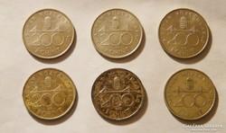 Ezüst 200 forintosok - 1992 és 1993