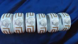 6 db porcelán szalvéta gyűrű